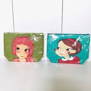 Other - New Pair Of Small Zip Up Makeup/Toiletry Bags